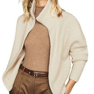 Reiss Cardigan ribbed sweater wool/cashmere M
